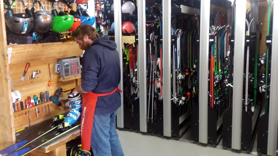 Location ski: réglage ski